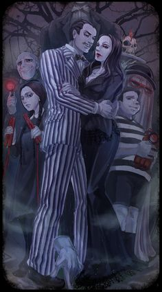 The Addams Family movie version by ~arashicat on deviantART The Addams Family, Adams Family, Los Addams, Gomez And Morticia, Charles Addams, American History X, The Munsters, Wednesday Addams, Goth Art