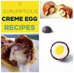 The only question is how many of these am I gross enough to try... 17 Scrumptious Ways To Eat A Creme Egg