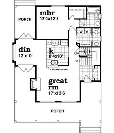 images about Beautiful  little  Floorplans on Pinterest    Country Style House Plans   Square Foot Home  Story  Bedroom and