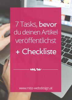 Kontrolliere diese 7 Punkte, bevor dein Artikel online geht. | miss-webdesign.at