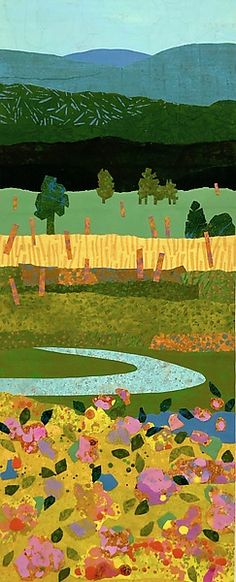 Summer Meadow I by Suzanne Siegel - Small (Giclee Print)