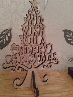 Christmas Tree laser cut 6mm MDF. Ebay 1st