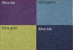 Etna Lila / Etna Bensin / Etna Grön / Etna Blå Från Hovden Etna Purple / Etna Petrol / Etna Green / Etna Blue  From Hovden