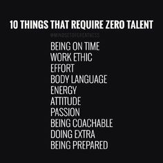 10 things that require 0 talent: