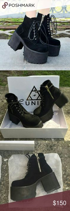 BNIB UNIF Dawson Boot Brand new in box size 10 retails for $178. ×× NO TRADES ×× UNIF Shoes Ankle Boots & Booties