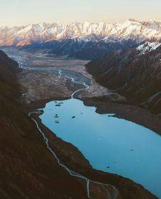 Mt Cook national park, New Zealand photo by @newzealandvacations •