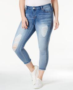 1ded8da6f1 Celebrity Pink Trendy Plus Size Ripped Skinny Jeans Plus Sizes - Jeans -  Macy s