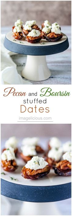 Pecan and Boursin stuffed Dates – easiest and quickest appetizer Quick Appetizers, Finger Food Appetizers, Appetizers For Party, Appetizer Recipes, Party Nibbles, Snacks Recipes, Stuffed Dates, Boursin Cheese, Sans Gluten Sans Lactose