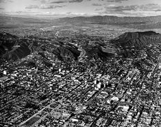 Hollywood before the Hollywood Freeway extension, 1950.