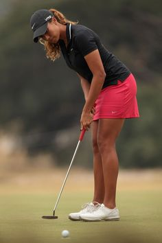 Cheyenne Woods of the United States putts on the 11th hole during day one of the ISPS Handa Women's Australian Open at The Victoria Golf Club on February 13, 2014 in Melbourne, Australia.