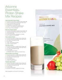 Delicious Arbonne shake recipes