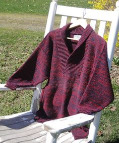 A gorgeous, flattering style of sweater, this shawl collared pullover is individually knit on 2 hand-operated knitting machines in a