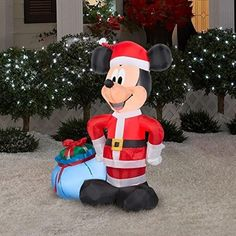 cheap mickey mouse christmas inflatable mickey mouse christmas christmas yard country christmas christmas - Mickey Inflatable Christmas Decorations