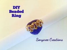 (31) Sparkly Beaded Ring _Day 4 of 5 Day Marathon of Ring 💍 - YouTube