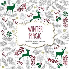 Winter Magic Adult Coloring Book