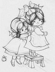 Desenhos fofíssimos de crianças para colorir!                                                                                               ...