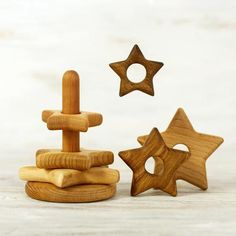 Wooden Stacking Toy Star Fine Motor Skills montessori baby Wood Caterpillar 5 out of 5 stars Toddler Toys, Baby Toys, Learning Toys For Toddlers, Stacking Toys, Montessori Baby, Wooden Flowers, Fine Motor Skills, Educational Toys, Handmade