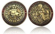 Templar MMXI Geocoin (II) Antik Gold