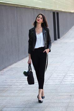 pantalones con raya lateral