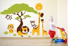 00309 Sticker Wall Stickers Wall Stickers kids wallpaper Walls Baby Nursery Room Savannah 5