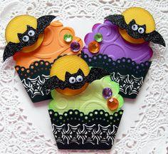 Halloween Paper Cupcake Embellishments
