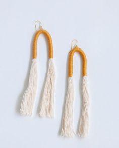The Jones Earring - Wrapped Arc Earrings - Daughter Handwovens