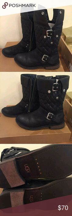 Ugg conner boots, black Like new! UGG Shoes