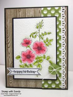 Stamp With Sandy: Hardwood, Sweetbriar Rose, Itty Bitty Banners Stamp Sets, Stampin' Up