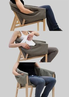 Arunas Sukarevicius, part of Etc. Etc., has created My Reading Chair, an armchair composed of two parts: a frame and its slipcover.