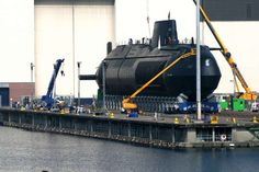 HMS Astute on the shiplift in Barrow