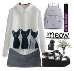 """""""137"""" by erohina-d ❤ liked on Polyvore featuring beauty, A.P.C., WithChic, Iron Fist, NYX and Hot Topic"""