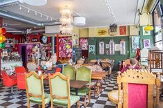 Stop by: The quirky Cafe String – nestled among all the stores in SoFo is a retro furniture and comic book inspired coffee stop to refuel