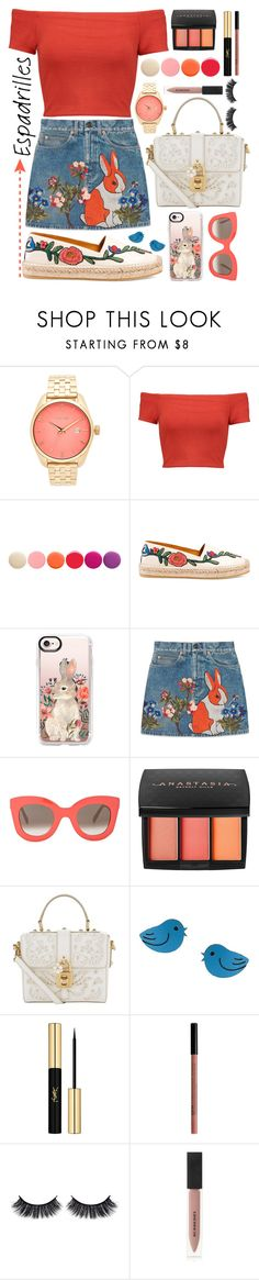 """Maroon 5 - Animals"" by amylewin ❤ liked on Polyvore featuring Nixon, Alice + Olivia, Deborah Lippmann, Gucci, Casetify, CÉLINE, Anastasia Beverly Hills, Dolce&Gabbana, Sienna Sky and Yves Saint Laurent"