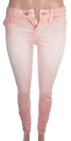 True Religion Women's Flap Pocket Mid Rise Crystal Buttons Legging Jean 30 NWT…