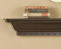 Wilshire Mantel Shelf - Fireplace Mantel Shelves - A beautiful wood shelf to display all your favorite photos and art. Starting from $180.  http://www.mantelsdirect.com/wilshire.html