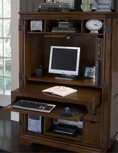 i like the dresser type office deck that u can close the doors after using it so it doesnu0027t look as cluttered school pinterest small office spaces