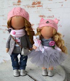 Winter Doll Inverno Vinter Fabric Doll Zimy Tilda Doll Poupée