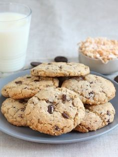 Toasted Coconut Chocolate Chunk Cookies on twopeasandtheirpod.com