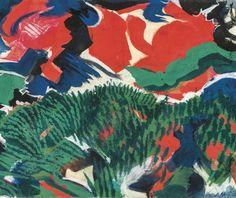 blastedheath:  Maurice Wyckaert (Belgian, 1923-1996), Composition, 1990. Gouache on paper on cardboard, 50 x 60cm.