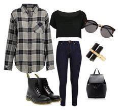 """""""Untitled #28"""" by le-crow on Polyvore featuring Dr. Martens, WithChic, Mansur Gavriel, Illesteva, House of Harlow 1960 and Current/Elliott"""