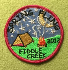 Girl Scouts Eastern Missouri Camp Fiddle Creek 100th anniversary year patch. Spring Fling Fiddle Creek 2012. Thank you, Staci.