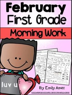 Morning Work: First Grade February Packet (Differentiated Common Core) Each page is aligned to common core standards + weather, date and seasons review. It spirals and adds new standards each month. Morning hints pages can be laminated and used to help students be more independent in their morning work.