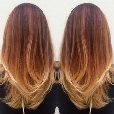 11. Copper Hair + Blonde Lowlights Once upon a time, you'd only see blonde and copper together in the early 90's back when Ginger Spice used to rock it. It's become more popular these days however and this blonde and copper balayage look is great if you fancy taking a trip back to your younger …