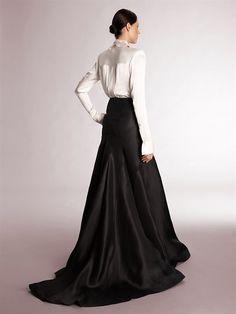 black flowing evening skirt Donna Karan