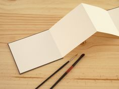 Cuaderno acordeón para acuarela de SPHINGE Slow Bindery por DaWanda.com
