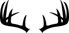black silhouette of deer antlers | Use these free images for your websites, art projects, reports, and ...