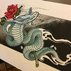 WEBSTA @ evandowdell - Finished this Ghost snake just in time for NIX! Hope to…