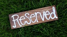 Reserved table/seating wedding sign  rustic by whatsyoursigndesigns, $10.00