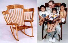 MEB : Classic Tall Wooden Rocking Chair Rocker Yugoslavia