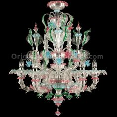 Chandelier Vandelia - Rezzonico - Murano Glass Lighting, Chandeliers & various illumination artworks Available with 6 lights